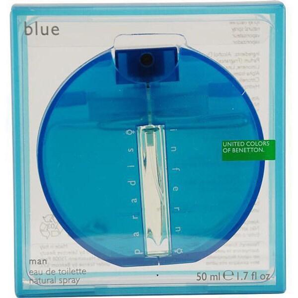 Benetton Inferno Paradiso Blue Men's 1.7-ounce Eau de Toilette Spray