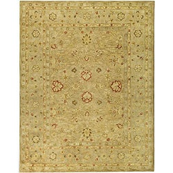Handmade Majesty Light Brown/ Beige Wool Rug (6' x 9')