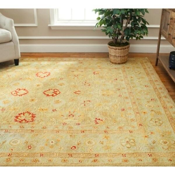 Safavieh Handmade Majesty Light Brown/ Beige Wool Rug (6' x 9')