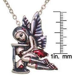 CGC Pewter 'Time Flies Strangelings Artist' Enamel Fairy Necklace