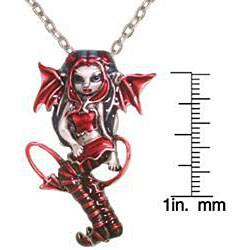 Carolina Glamour Collection Pewter 'Devilish Strangelings' Artist Fairy Necklace