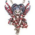 CGC Pewter 'Red Ribbon Strangelings' Artist Fairy Necklace