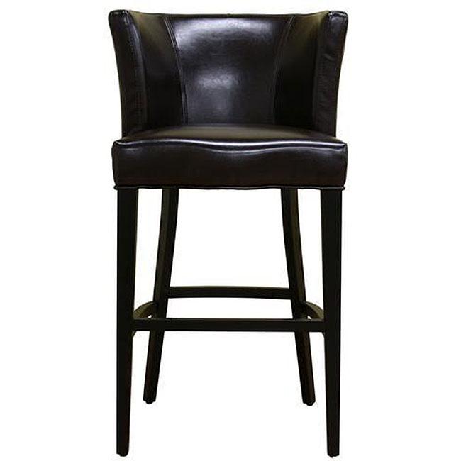 Willet Curved Backrest Leather Barstool