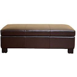 Terrance Dark Brown Large Storage Ottoman