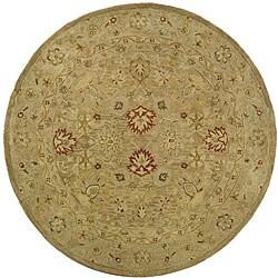 Safavieh Handmade Majesty Light Brown/ Beige Wool Rug (3'6 Round)