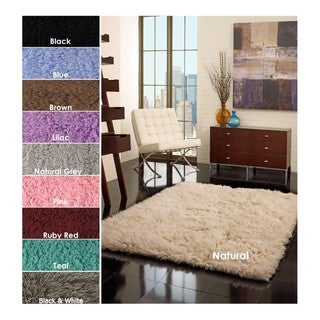 Hand-woven Alexa Flokati Wool Shag Rug (3' x 5')