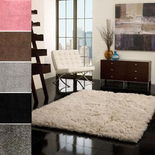 nuLOOM Hand-woven Flokati Wool Shag Rug (3' x 5')