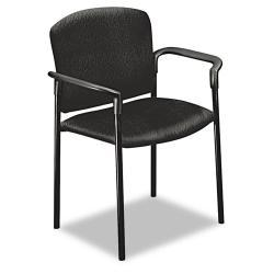 HON Pagoda 4070 Series Stacking Chair, Black, Arms (Pack of 2)