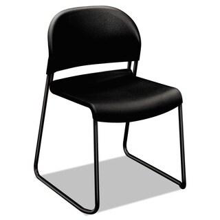 HON GuestStacker Steel Frame Chair, Black (Pack of 4)