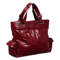 Cosmo Women's Italian Leather Tote Bag with Two Side Pockets