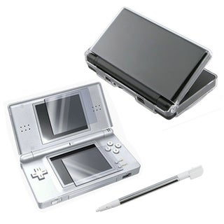Insten Case, Stylus and Protector For Nintendo DS Lite