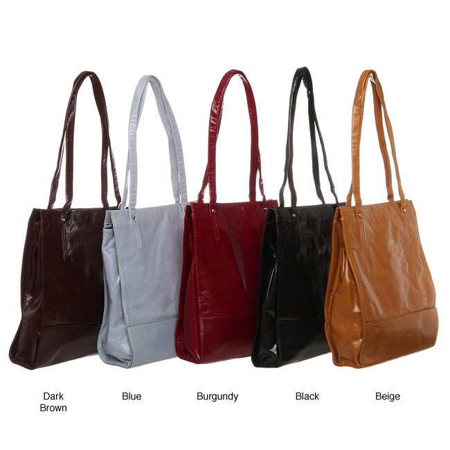 Abbyson Living Cosmo Italian Leather Slim-Style Handbag
