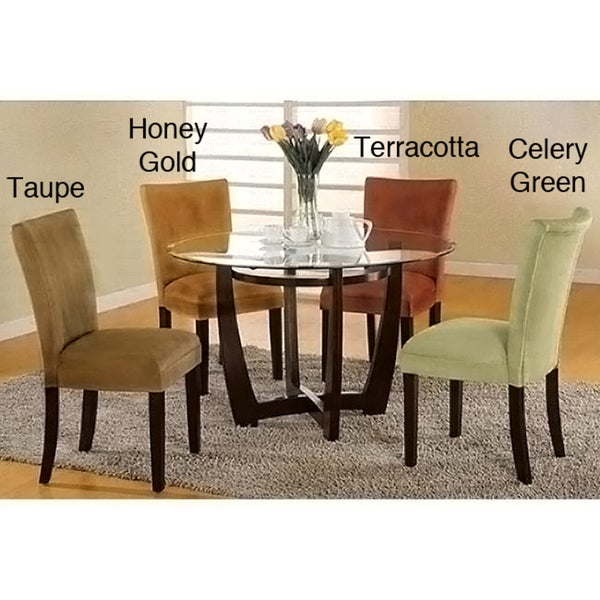 Empire Microfiber Parson Chairs (Set of 2)