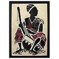 'Kora Player' Original Art (Ghana)