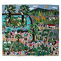Applique 'Day At The Zoo' Wall Hanging (Peru)