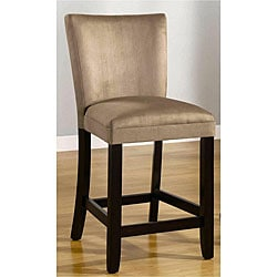 Empire Beige Microfiber Counter Stools (Set of 2)