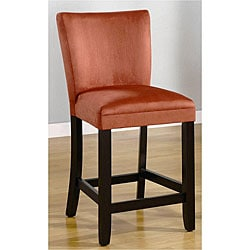 Empire Terracotta Microfiber Counter Stools (Set of 2)