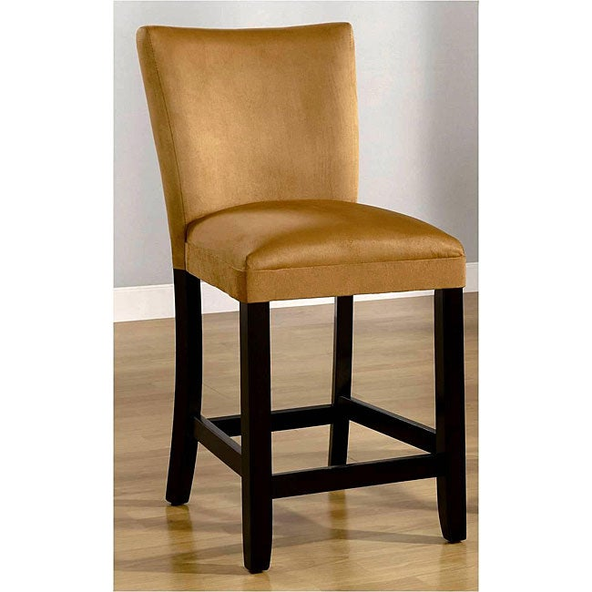 Empire Honey Gold Microfiber Counter Stools (Set of 2)