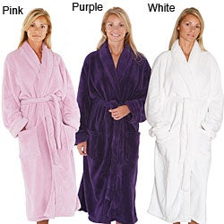 Alexander Del Rossa Women's 14-oz Fleece Long Bathrobe