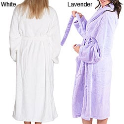 Alexander Del Rossa Women's 14-oz Fleece Long Bath Robe