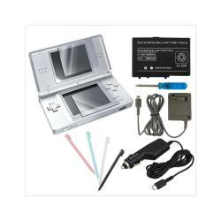 Car Travel Charger, Screen Protector and 4 Stylus Set For Nintendo DS Lite
