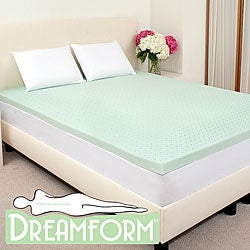 Dream Form Green Tea 2-inch Memory Foam Mattress Topper