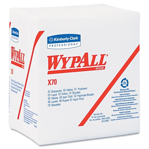 WYPALL X70 1/4-Fold White Wipers (Case of 912)