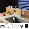 Kraus Stainless Steel Undermount Kitchen Sink, Faucet and Dispenser