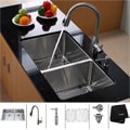 Kraus Scratch-Resistant Stainless-Steel Undermount Kitchen Sink, Faucet and Dispenser