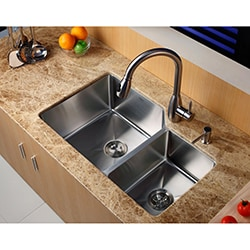 Kraus Kitchen Combo Set Stainless Steel 32 -inch Undermount Sink with Faucet