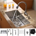 Kraus Kitchen Combo Set Stainless Steel 30 -inch Undermount Sink with Faucet