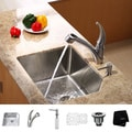Kraus Stainless-Steel Undermount Kitchen Sink, Faucet and Dispenser Combo