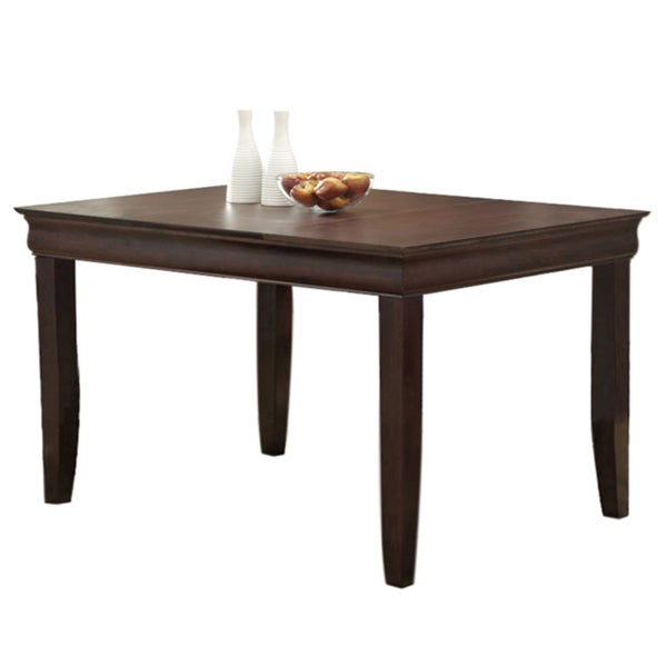 60-inch Espresso Wood Dining Table
