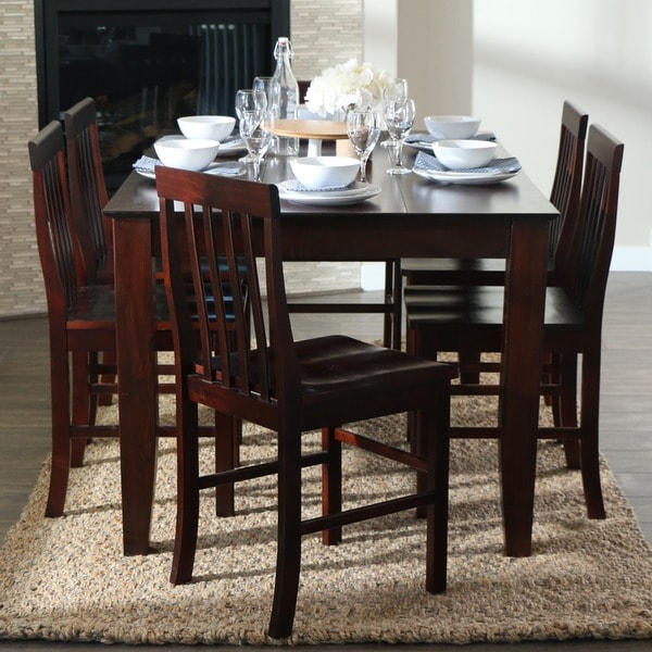 60 Inch Espresso Wood Dining Table 12338515 Overstock