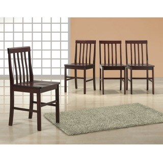 Traditional Espresso Wood Dining Chairs (Set of 4)
