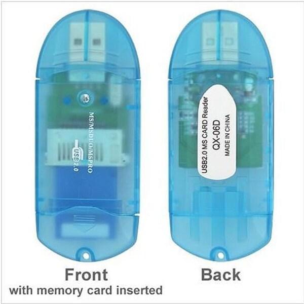 INSTEN Memory Stick Pro/ Pro Duo PHUBCRDRXX06 Clear Blue Adapter