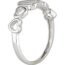 Miadora 10k White Gold Diamond Accent Heart Ring (H-I, I2-I3)