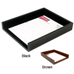 Dacasso Rustic Leather Front-load Letter-size Tray