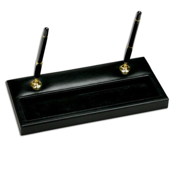 Dacasso 1000 Series Leather Double Pen Stand