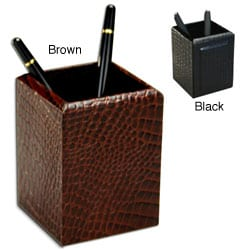 Dacasso 2000 Series Crocodile-Embossed Leather Pencil Cup