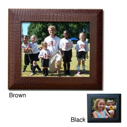 Dacasso Crocodile-Embossed Leather 8 x 10-inch Photo Frame