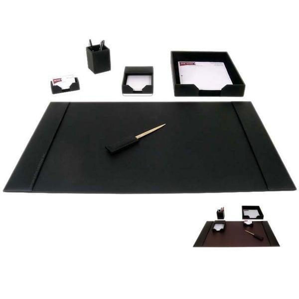 Dacasso 1400 Series 6-piece Econo-Line Leather Desk Set 5948543