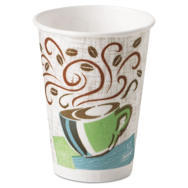 Dixie Coffee Dream Design PerfecTouch 12 oz Hot Cups (Case of 500) 5948757