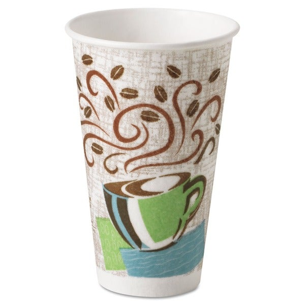 Dixie Coffee Dream Design PerfecTouch 16 oz Hot Cups (Case of 500) 5948758