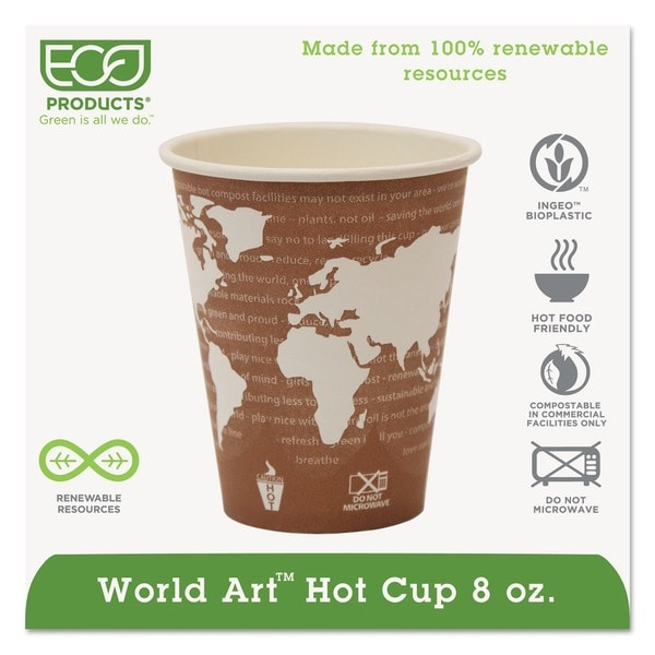 Eco-Products Eco-Friendly Eco 8 oz Paper Hot Cup (Case of 1000) 5948786