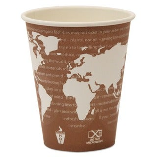 Eco-Products Compostable Eco 8 oz Paper Hot Cup (Case of 1000)