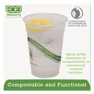 Eco-Products Compostable Corn Clear Plastic Cups, 16 oz (Case of 1000)