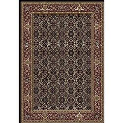 Anoosha Herati Black Rug (3'11 x 5'3)