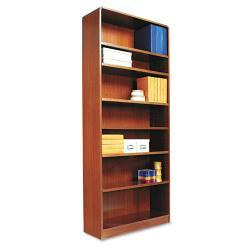 Alera Radius Corner 7-Shelf Bookcase With Finished Back