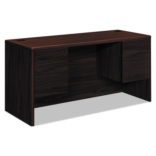 HON 10700 Mahogany Waterfall-Edge Credenza with Pedestal